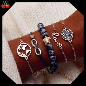 🍒 4EVER 🌎 World Bracelet Set